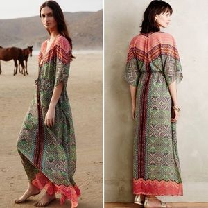 Anthro Vanessa Virginia Chama Kaftan Maxi Dress